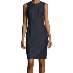 Calvin Klein 8 Pencil Dress Chambray Blue Sheath